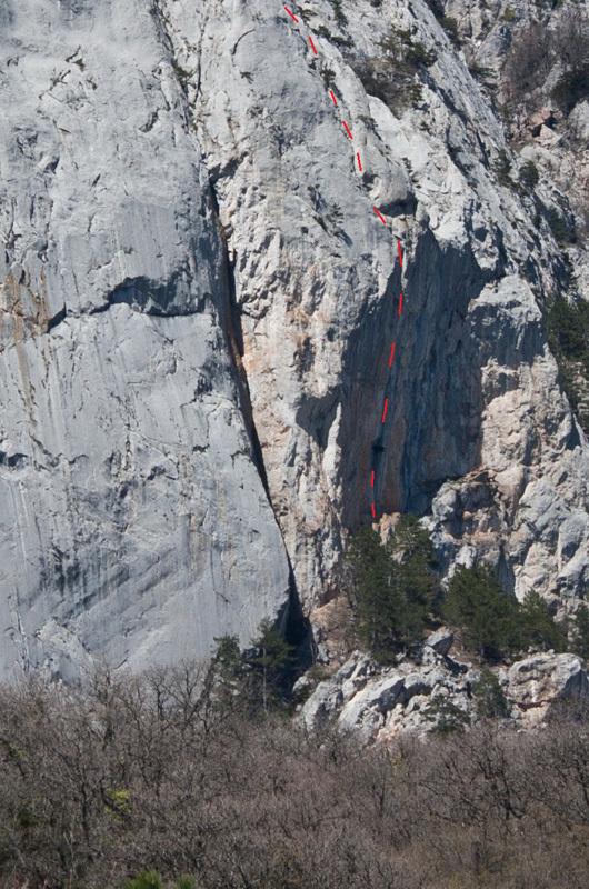 Lo strapiombo della via BG, Monte Morcheka, Crimea, Sergey Nefedov