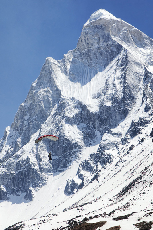 Valery Rozov from Russia and his 25/05/2012 BASE Jump from an altitude of 6420m off Shivling (Himalaya)., Red Bull Content Pool
