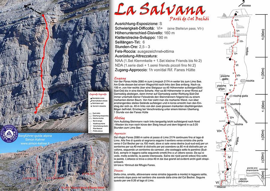 La Salvana (190m, VI+/V un pass. VII-), Simon Kehrer