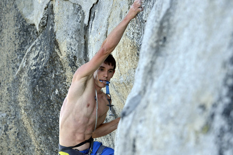 Alex Honnold impegnato nel record di velocità su The Nose (Yosemite), Paul Hara