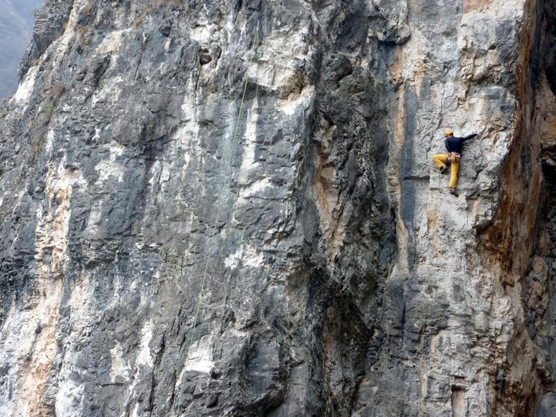 M. Malfione climbing Mangiworld 6c, Stefano Codazzi