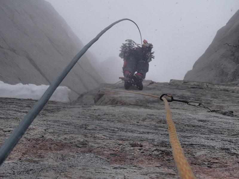 Marek Raganowicz & Marcin Tomaszewski establishing Superbalance (VII, A4, M7+) up Polar Sun Spire, Baffin Island., Marek Raganowicz