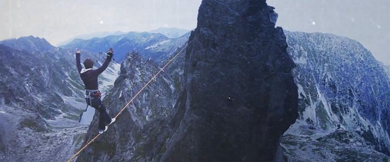 Ciubaka, the first highline in the Tatras, Wojtek Kozakiewicz