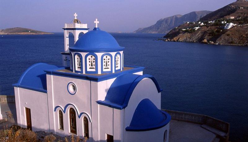 La vista da Kalymnos sul Mar Egeo, Carlo Gabasio