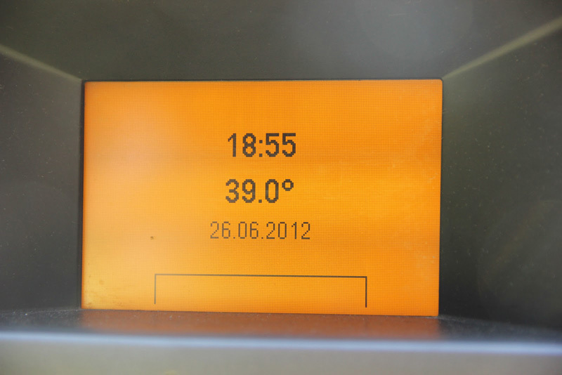Ramon Julian Puigblanque's thermometer after sending Catxasa 9a+ at Santa Linya, Spain.,