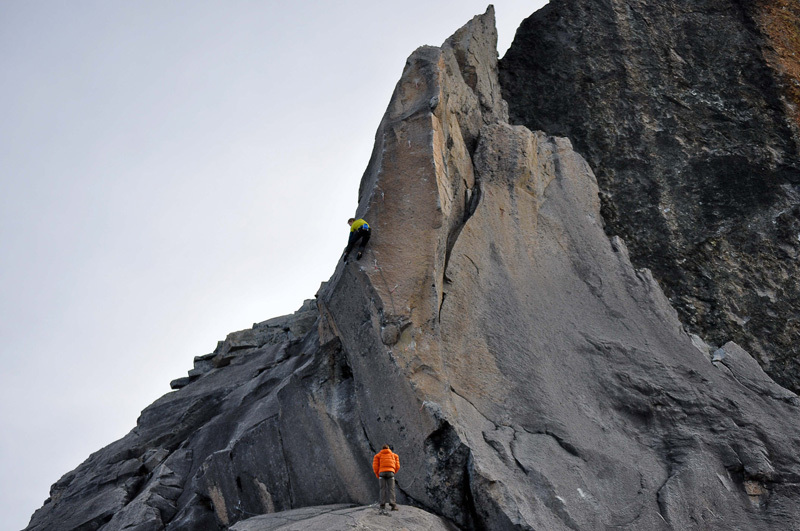 James Pearson on the crux of Excalibur 8c+, James Pearson archive