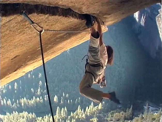 Ron Kauk climbing one of the most beautiful and represenative routes in Yosemite: Separate Reality 5.11d, freed by Kauk in 1977., archivio Ron Kauk