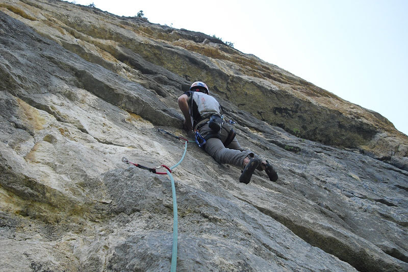 Alessio Roverato on pitch 3 of Cara in Val Gadena, Angela Carraro