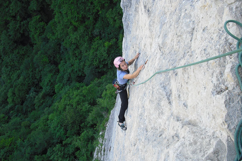 Angela Carraro on pitch 3 of Cara in Val Gadena, Alessio Roverato