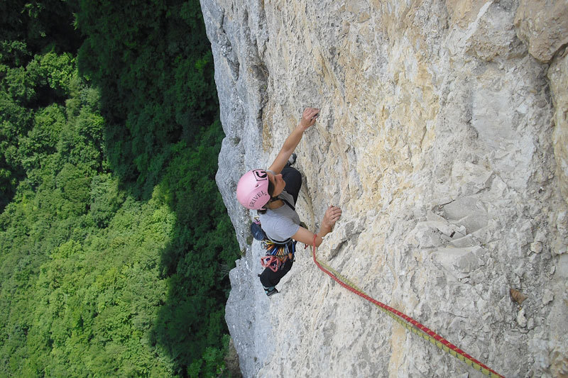 Angela Carraro on pitch 5 of Cara in Val Gadena, Alessio Roverato