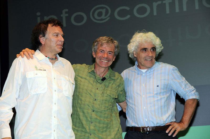 Mario Lacedelli, Patrick Gabarou e Alessandro Gogna, zoomfotocortina