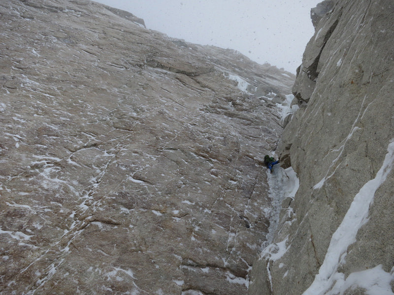 Nick Bullock climbing steep ice on Day 2 on the Slovak Direct, Denali (6194m), Alaska., Andy Houseman