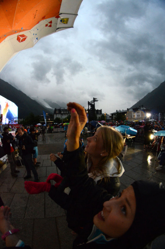 The first stage of the Lead World Cup 2012 at Chamonix, Lucio de Biase