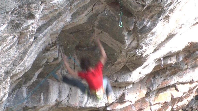 Adam Ondra on his new project at the Flatanger cave in Norway., Ove Magne Ribsskog
