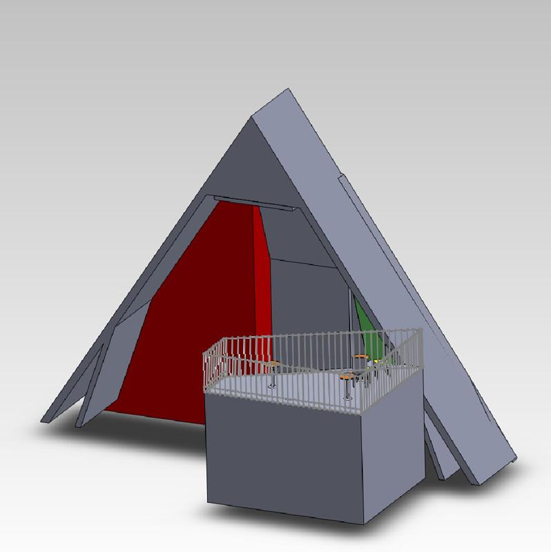 Il rendering della struttura di arrampicata del Pradasc., Nicola Noè