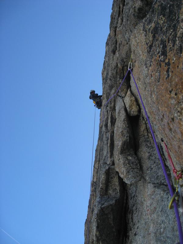 Mont Greuvettaz, gruppo del Monte Bianco: Centocinquanta (6a+ - 6a obbl. 460m, Marco Farina, Francois Cazzanelli 08/2011), Marco Farina
