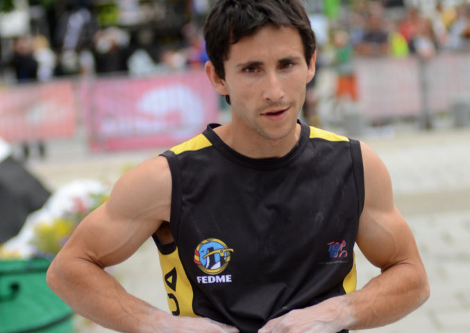 Ramón Julian Puigblanque durante la Coppa del Mondo Lead 2012 , Lucio de Biase