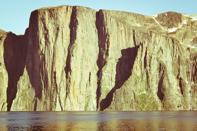 El Cap by the sea? The 850m Impossible wall bathed in midnight sun., The Arctic Project