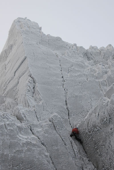 Andy Turner on pitch 2 of 'The Secret', X10 Ben Nevis., Viv Scott