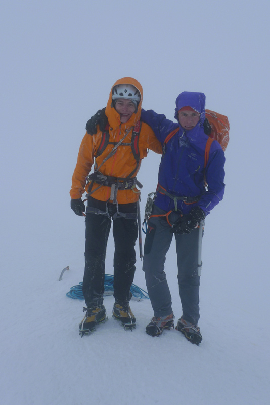 Luka Krajnc & Luka Lindič on the summit of Mont Blanc, Luka Krajnc