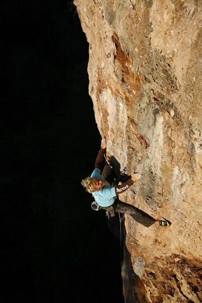 Albert Leichtfried on Honeymoon 7c+, Montagnes des Francais, Klaus Kranebitter