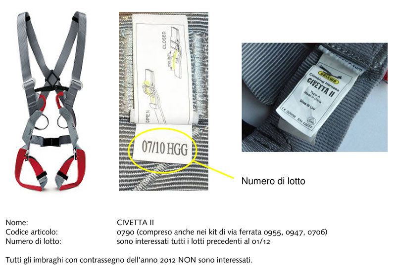 Salewa Civetta II full-body harnesses, Salewa