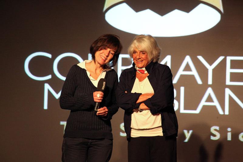 Fabrizia Derriard (sindaco di Courmayeur) e Rossana Podestà, Foto Lanzeni Courmayeur