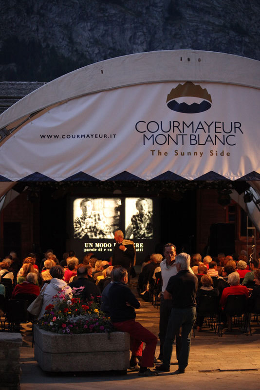 Jardin de l'Ange di Courmayeur per Un modo di essere, parole di e su Walter Bonatti, Foto Lanzeni Courmayeur