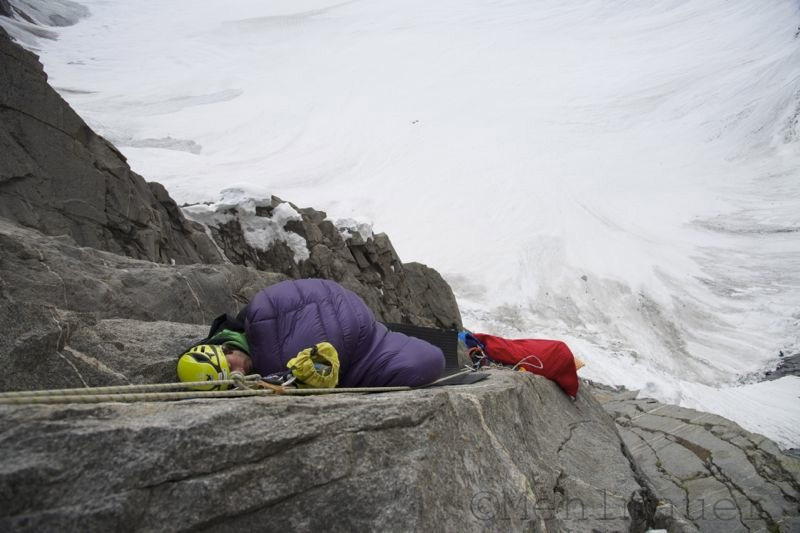 Bivy on Ramadhan (1100m, 9-, A2 Martin and Florian Riegler), Kako Peak (4950m), Karakorum, Pakistan., Monika Mehlmauer