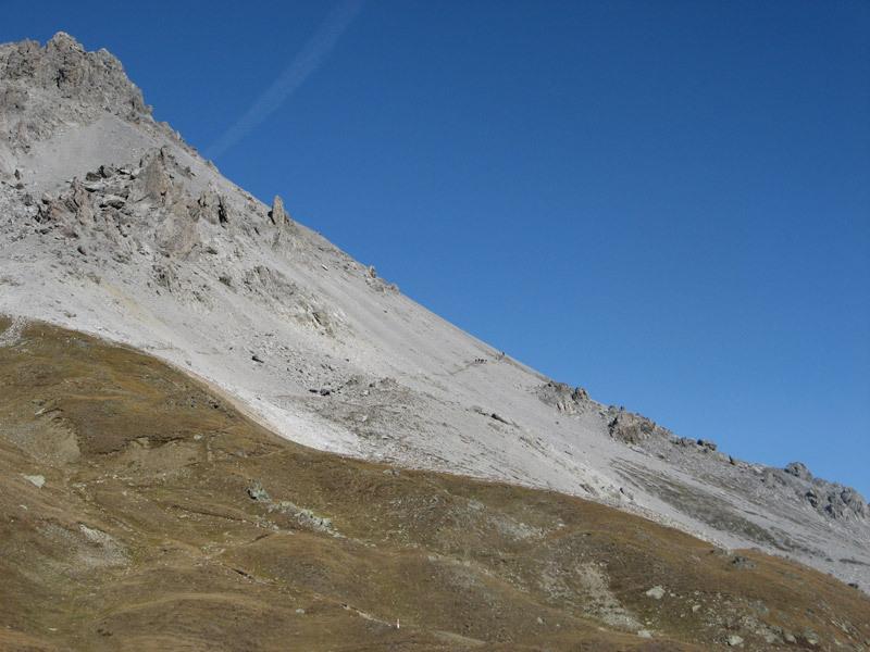 Umbrail - Il sentiero che sale sul territorio svizzero,