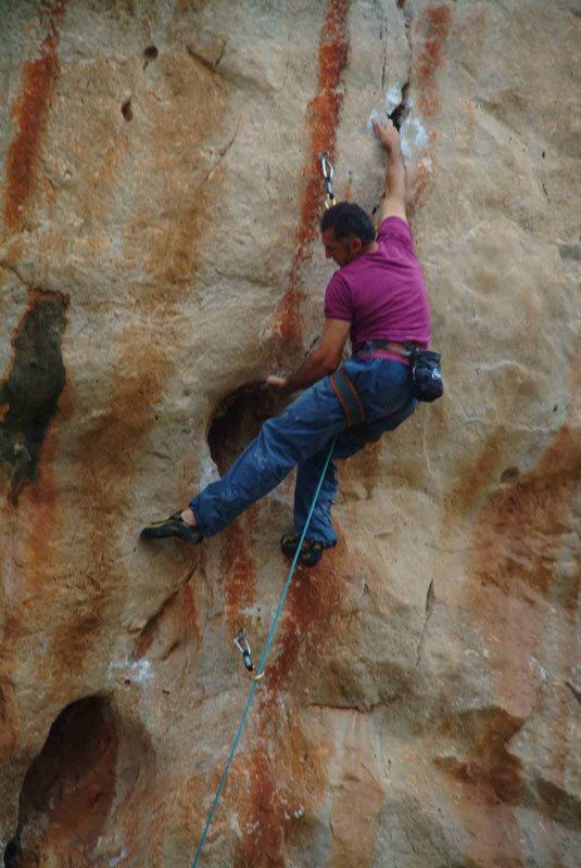 Severino Scassa, arrampicata a San Vito Lo Capo, Emilo Lucifora