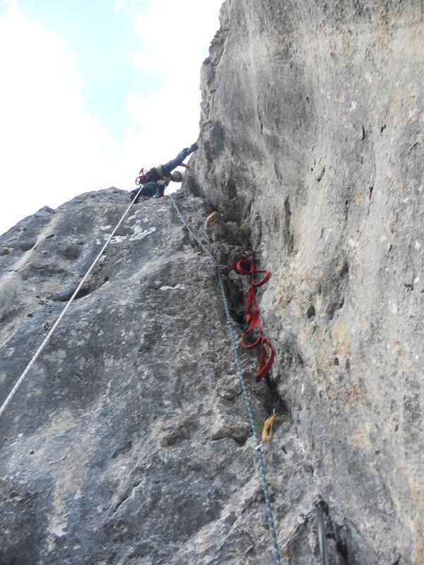 La fessura di uscita del Pilastro Parmenide, Stefano Valsecchi