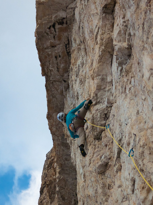 Stephanie Bodet & Arnaud Petit on the route Camillotto Pellesier, Arnaud Petit