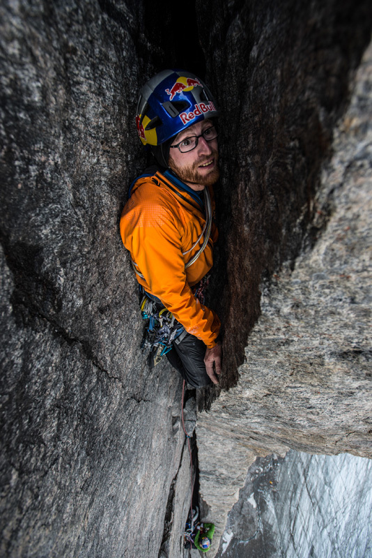 Baffin Island 2012: Iker Pou battling with The Door, Ricky Felderer