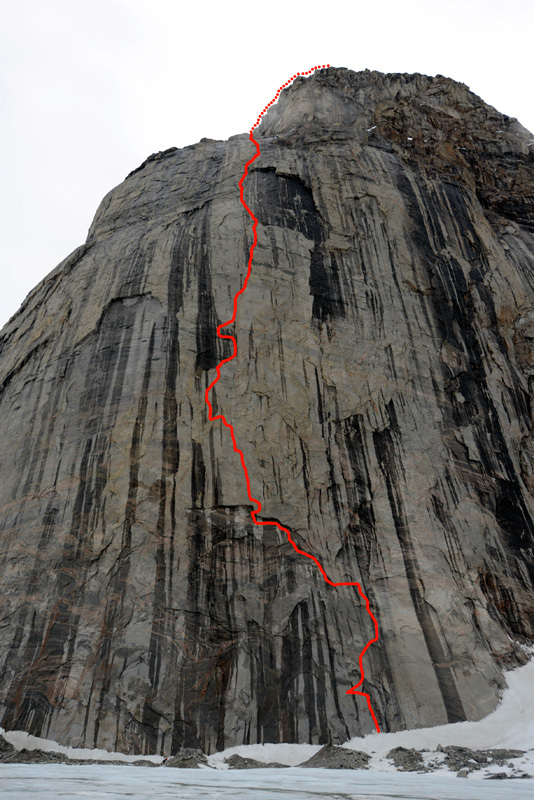 Isola di Baffin 2012: The Door (8b, 630m Eneko Pou, Iker Pou, Ben Lepesant, Hansjörg Auer) Belly Tower East Face, Perfection Valley, Ricky Felderer