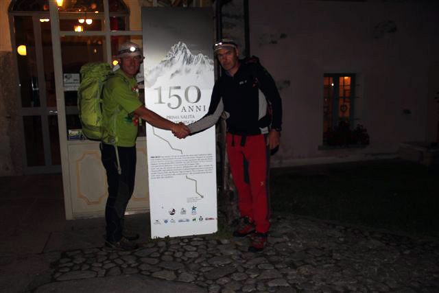 Giordano Giumelli e Mario Vannuccini repeating the 1862 British route to Monte Disgrazia on its 150th anniversary., Mario Vannuccini