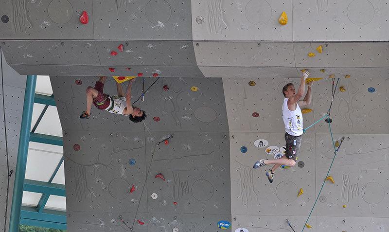 Rock Master 2012 - Adam Ondra vs Jakob Shubert, Giulio Malfer