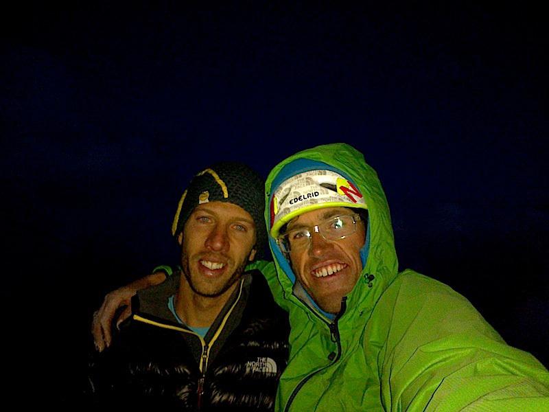 Hansjörg Auer & Much Mayr su L'ultimo dei Paracadutisti in Marmolada, Dolomiti  (8b+, 750m)., Hansjörg Auer