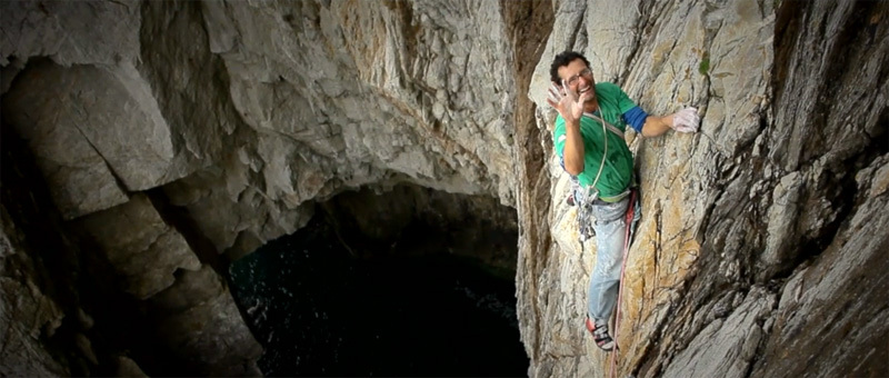 Nick Bullock climbing at Gogarth, polishedproject.com