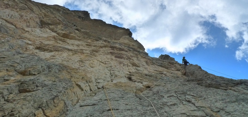Forest Gump (VIII+, 600m), North Face of Rocchetta Alta, Bosconero, Dolomites., Luka Krajnc & Luka Lindič