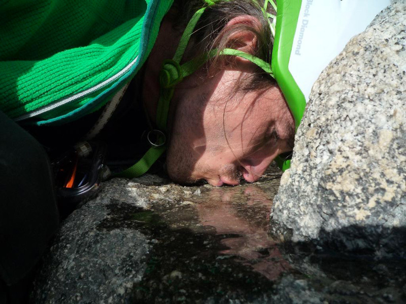 New route attempt by Dodo Kopold and Michal Sabovcik. First day without water., Dodo Kopold