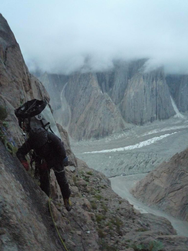 New route attempt by Dodo Kopold and Michal Sabovcik. Return to Base Camp., Dodo Kopold