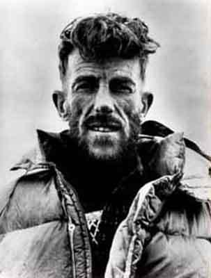 Sir Edmund Hillary all'epoca della prima salita dell'Everest, arch. E. Hillary