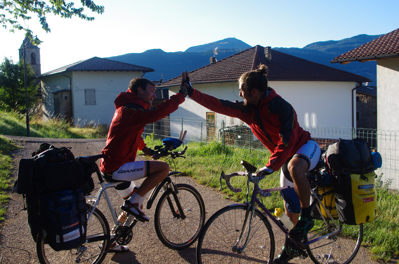 Ernesto Benfari & Christian Sega e il loro tour Dolomiti CicloArrampicando, Ernesto Benfari & Christian Sega