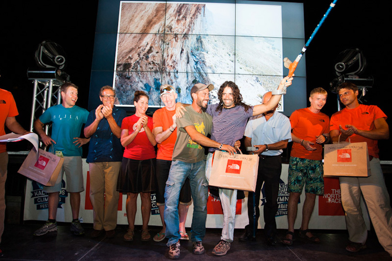 Premiazione Open Marathon: Sergio Sola Atares e Urko Carmona, The North Face ® / Chris Boukoros