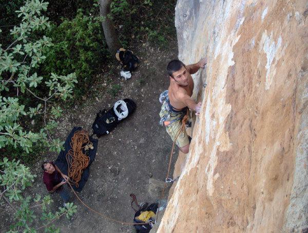 Stefano in arrampicata, arch. Fuoridiroccia