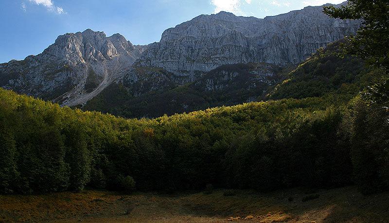 panoramica della N del sirente dalla Fossa del Pratiglio, archivio C. Iurisci