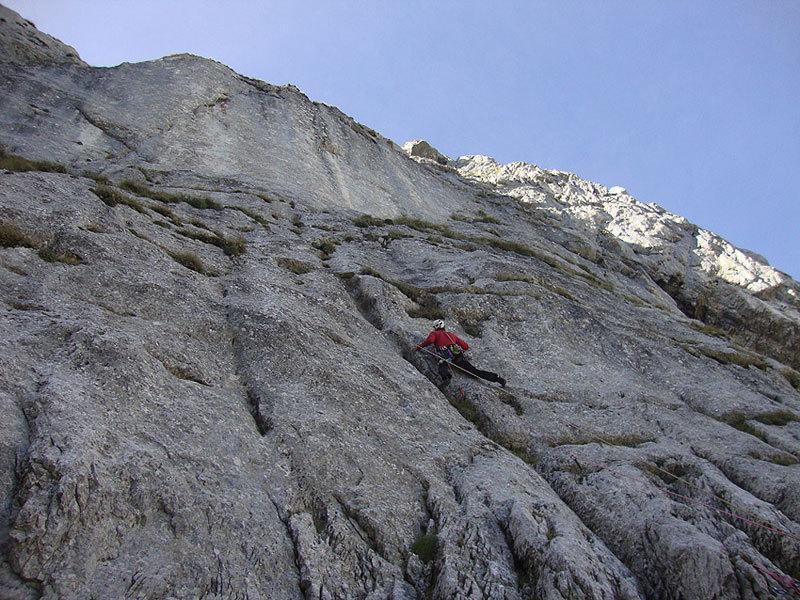 La bella fessura svasa (Cristiano in azione), archivio C. Iurisci