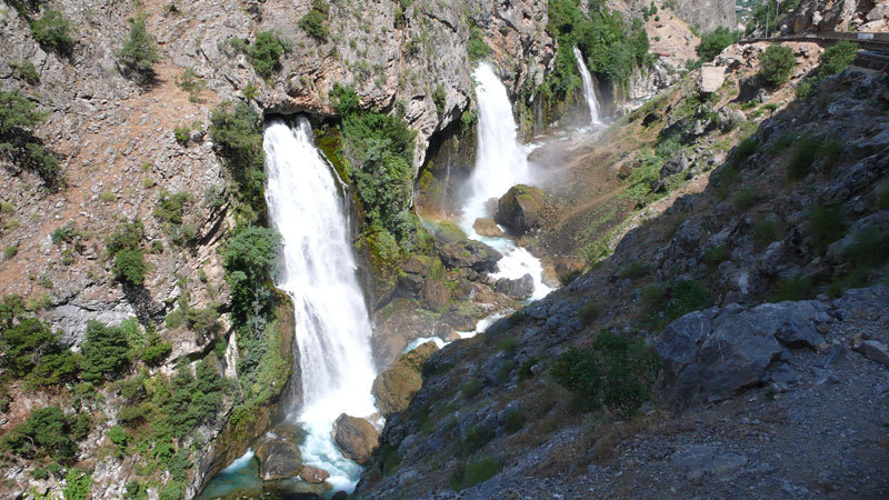 Le cascate di Barazama, archivio R. Larcher, L. Giupponi, N. Sartori