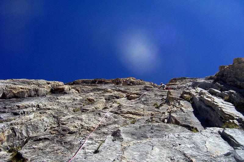 Su L1 di Eppure il vento soffia ancora, Rocca la Meja, Val Maira, archivio L. Belliardo